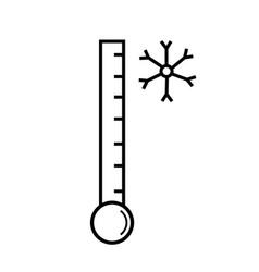 Low temperature icon vector