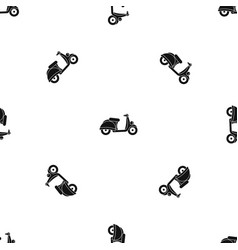 motorbike pattern seamless black vector image