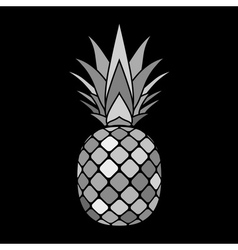 pineapple gray icon vector image vector image