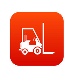 Stacker loader icon digital red vector