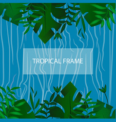 Tropic banner design template tropical frame vector