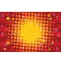 Warm Sunny carnival background vector image