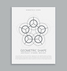 Sared spiritual geometric shape vector