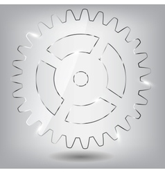 Glass gear vector image
