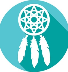 Dream catcher icon vector