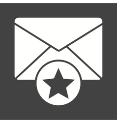 Favorite mail vector