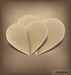Paper heart shape symbol for Valentines day vector image