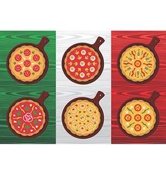 Italian pizza flavors vector