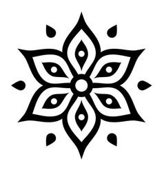 Boho flower design inspired by mehndi - indian vector