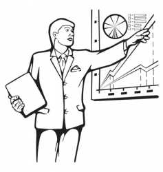 speaker lecture on business plan vector image