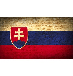 Flags slovakia with dirty paper texture vector