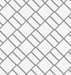 Perforated diagonal bricks vector