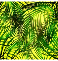 Jungle palm leaves background vector