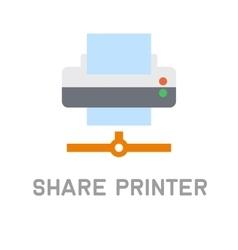 Net share printer icon on white background vector