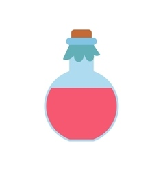 Pink spa oil flat icon vector