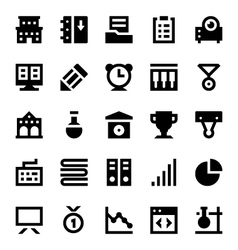 Education and school icons 5 vector