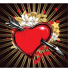 heart with ray vector image