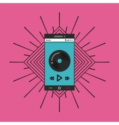 Play and smartphone icon music and sound design vector