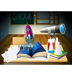 A science laboratory room vector image