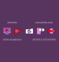 abstract social media background with lines vector image vector image