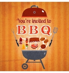 Barbecue invitation event advertisement poster vector