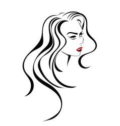 Beauty hair icon vector