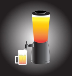 Beer mug and draft beer tower tap vector