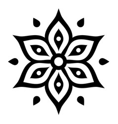 boho flower design inspired by mehndi - indian vector image