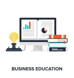 Business Education vector image vector image