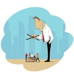 Business manipulation vector