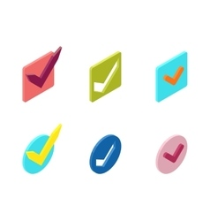 Check vote icons set vector image