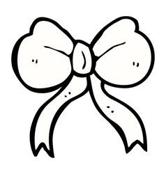 Comic cartoon bow tie vector