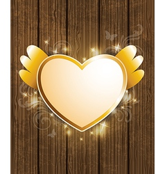 Decorative background with golden heart vector
