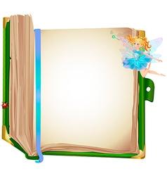 fairy book vector image
