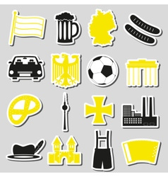 Germany country theme symbols stickers set eps10 vector