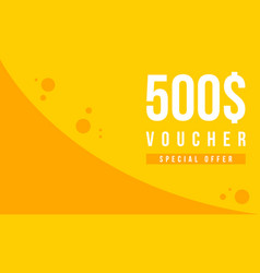 Gift voucher template design collection vector