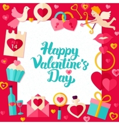 Happy valentine day paper template vector