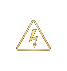 High voltage computer symbol vector image vector image