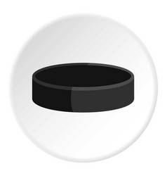 Ice hockey puck icon circle vector