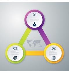 Infographics three circles vector