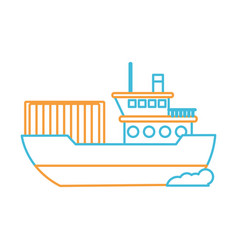 Isolated ship design vector