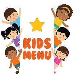 Kids menu design vector image vector image