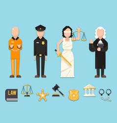 Law justice themis femida scales sword police vector