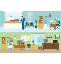 Modern Office Compositions vector image vector image
