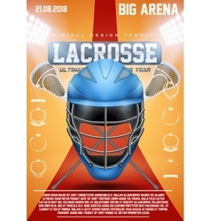 Poster template of lacrosse sports vector