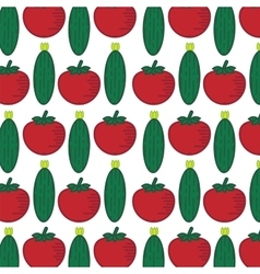 Seamless pattern with abstract vegetables vector