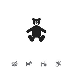 set of 5 editable baby icons includes symbols vector image vector image