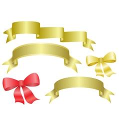 Set of ribbons and bows vector