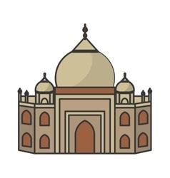 Taj mahal architecture vector image