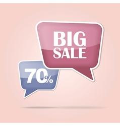 text bubble BIG SALE vector image vector image